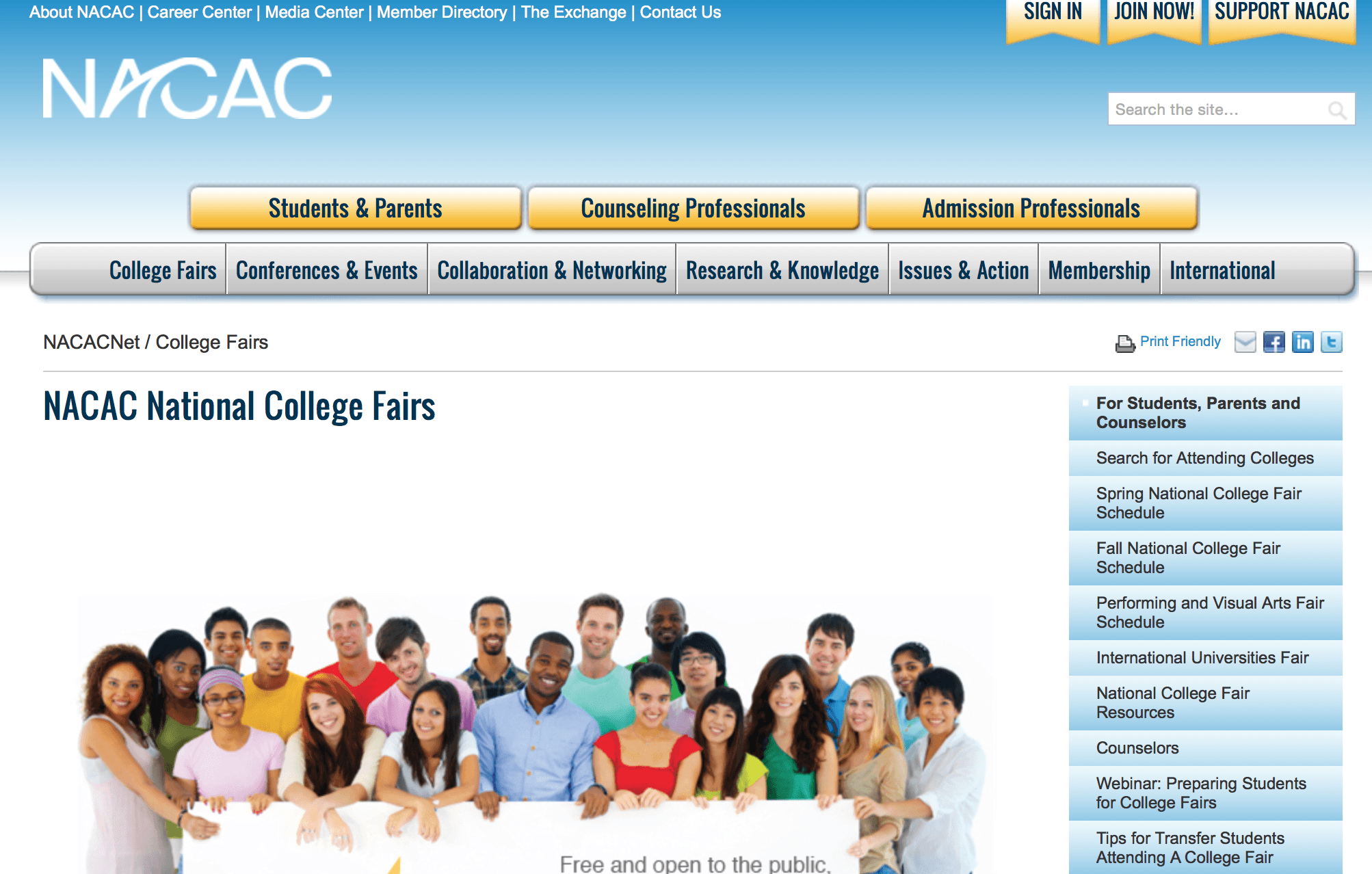 naca college event