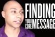 public speaking - finding core message