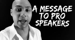 speaker training - message to speakers