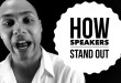 speaker training - standing out
