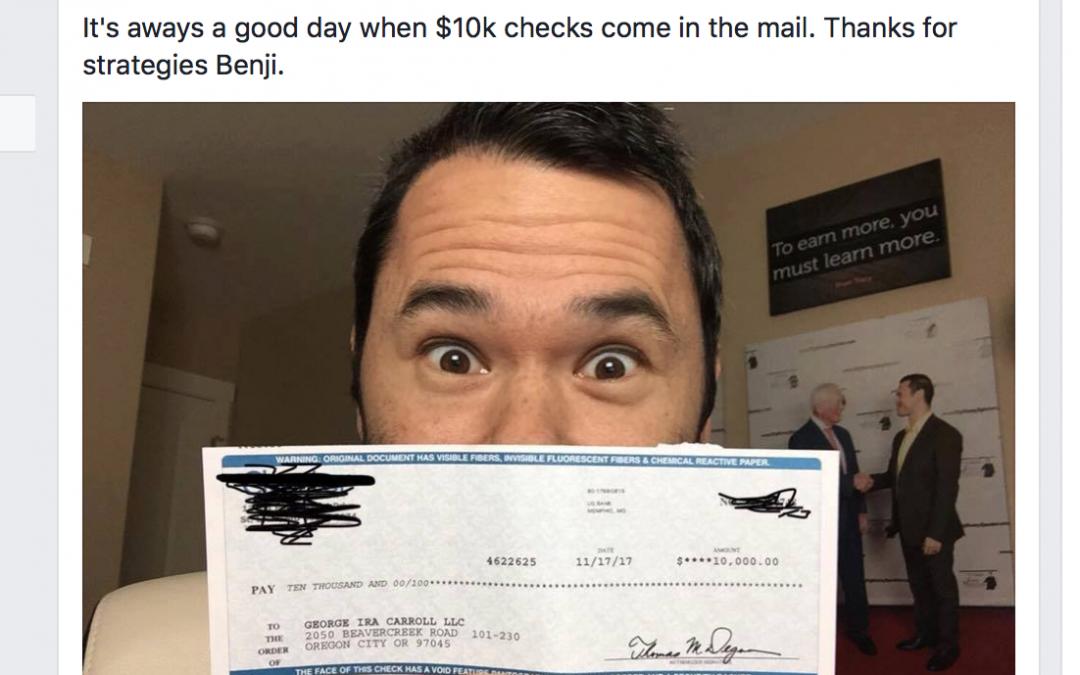 Here's How George Got A $10,000 Speaking Gig