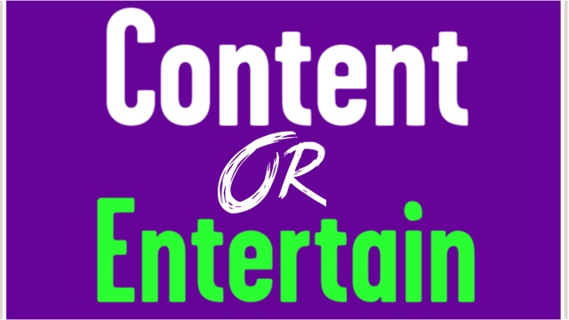 Should Your Presentation Be Entertaining Or Have More Content?