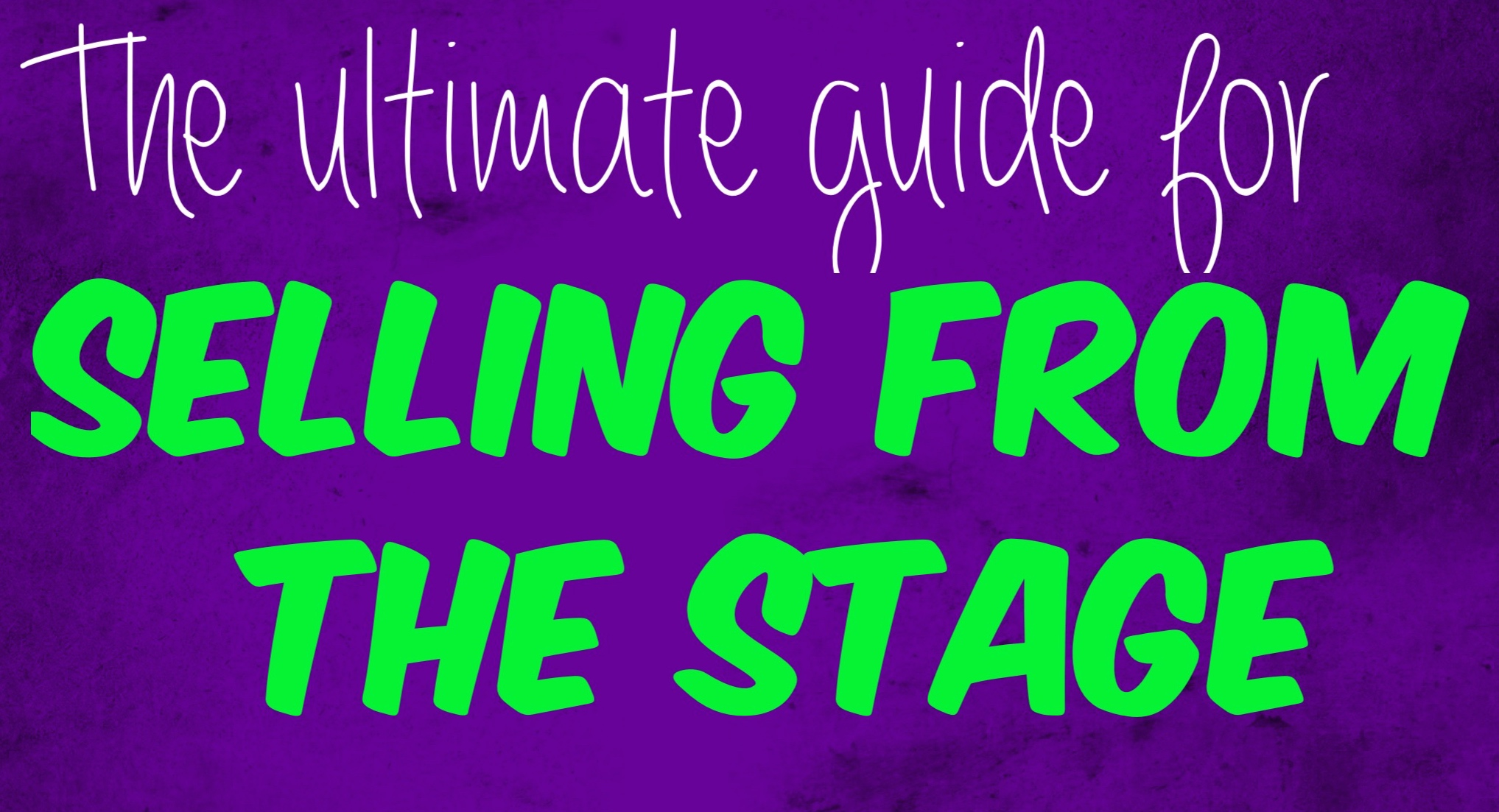 Ultimate Guide On How To Sell From The Stage [breakdown of a $500 million speaker's presentation]