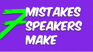 7 speaking mistakes