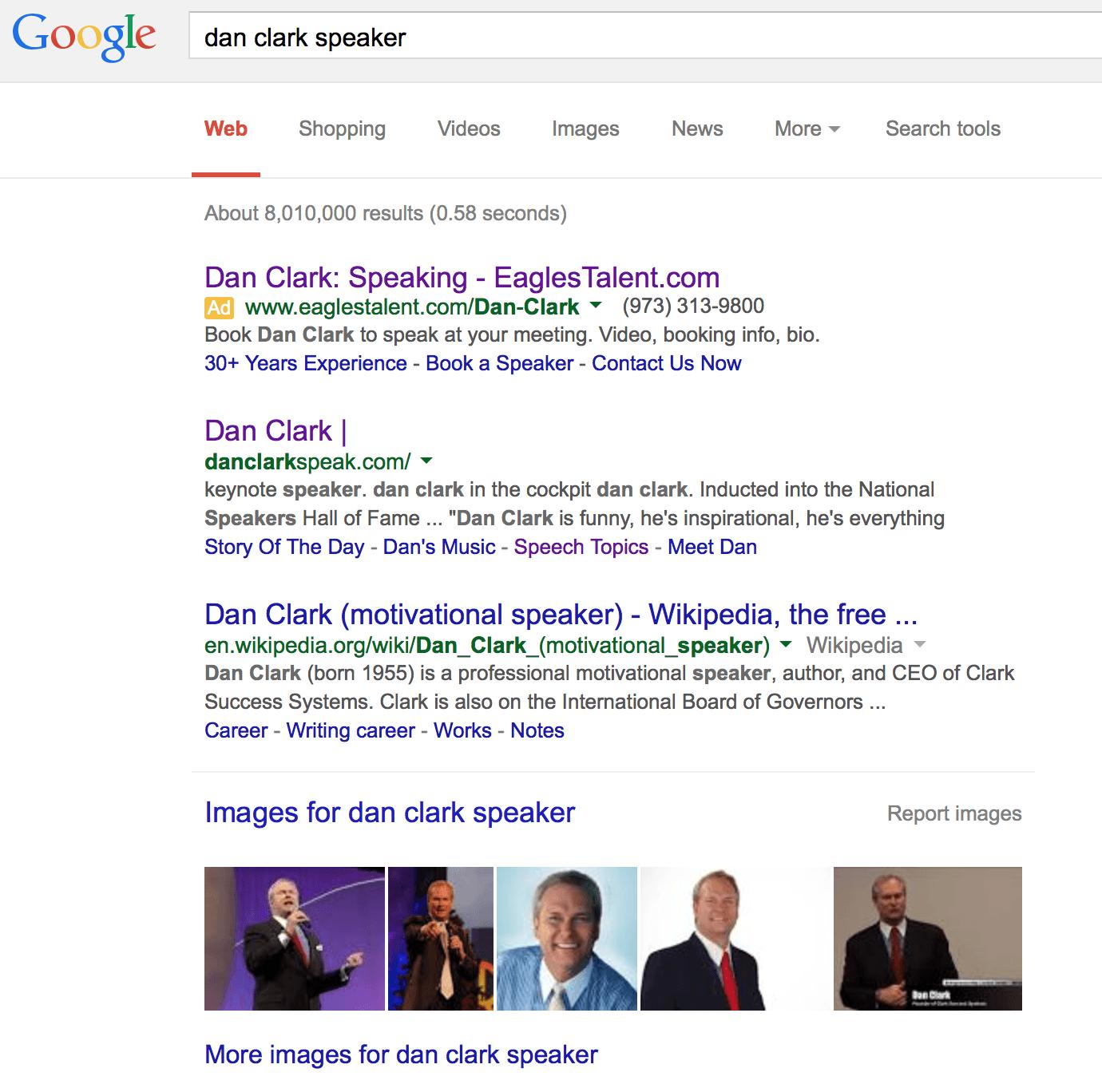Dan Clark google search