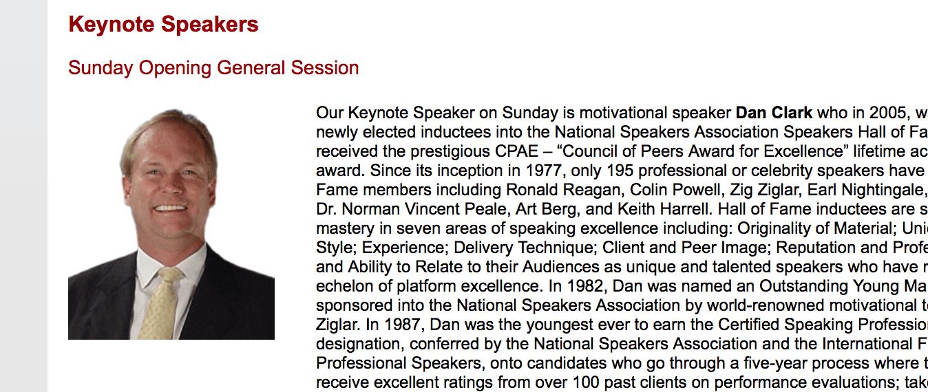 Dan Clark speaker