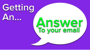 answer email - public speaking