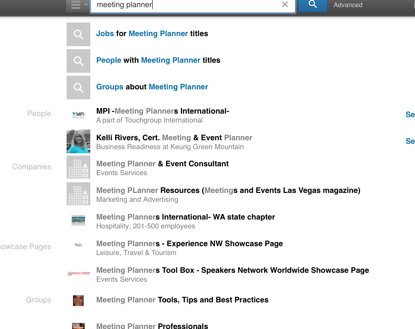 meeting planner linkedin