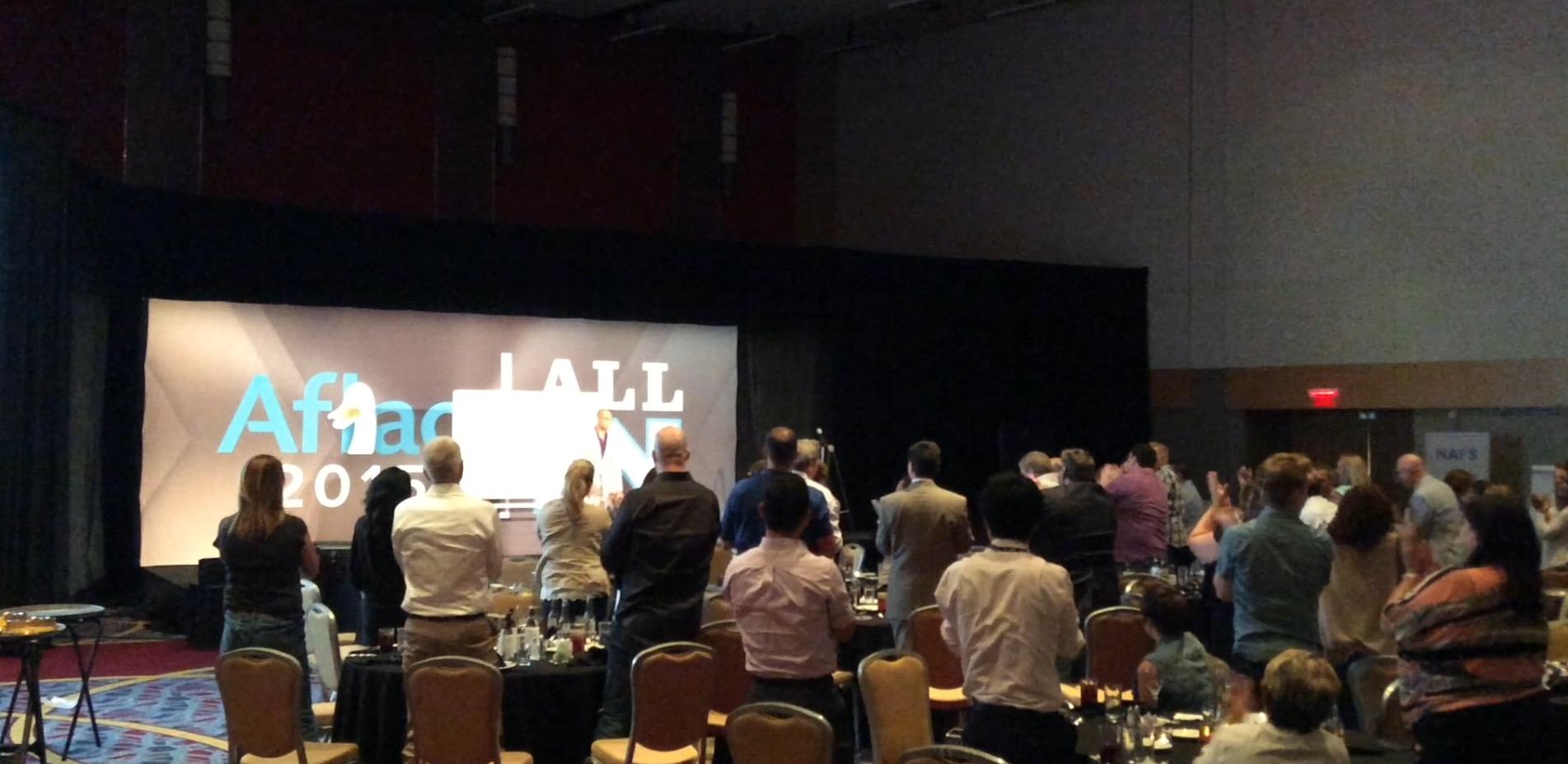 Benji Bruce keynote speaker standing ovation