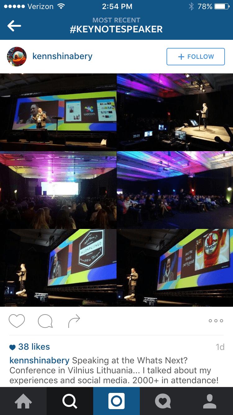 instagram keynote speaker