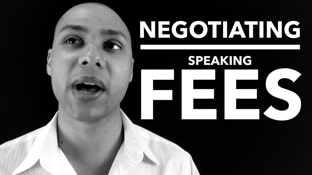 Negotiating your speaking fee (the right way)
