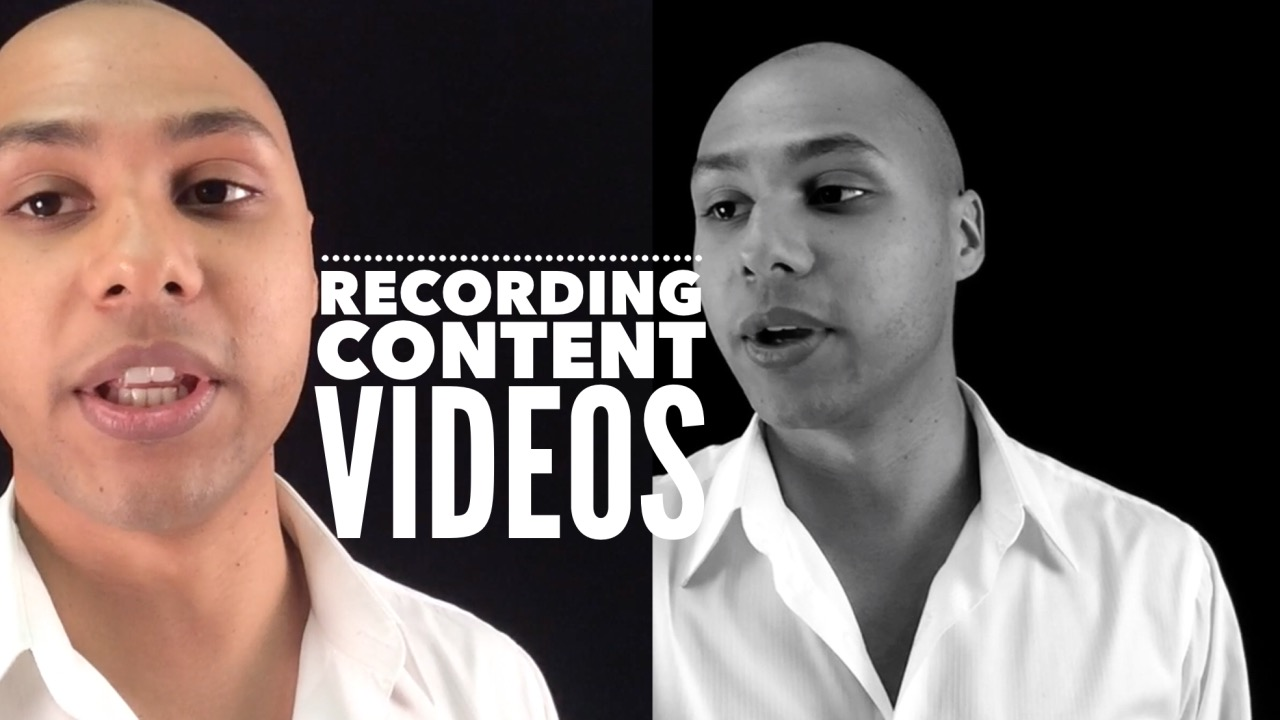 How I record my content videos