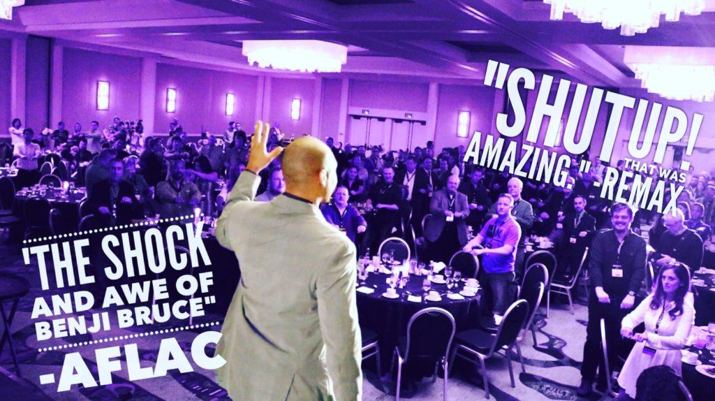 Benji Bruce motivational speaker mentalist header