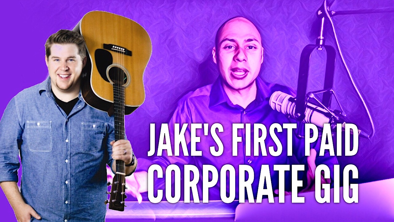 Jake booked his first paid corporate speaking gig in a couple of days doing this