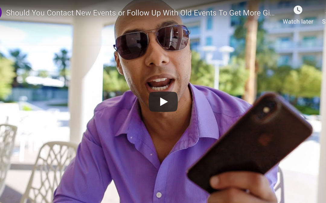 Should you contact new events or follow up with old events?