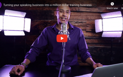 Turning your speaking business into a million dollar training business